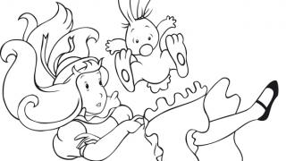 Download image Malvorlage Alice im Wunderland 3