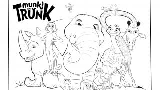 Download image Munki und Trunk Ausmalbild 02