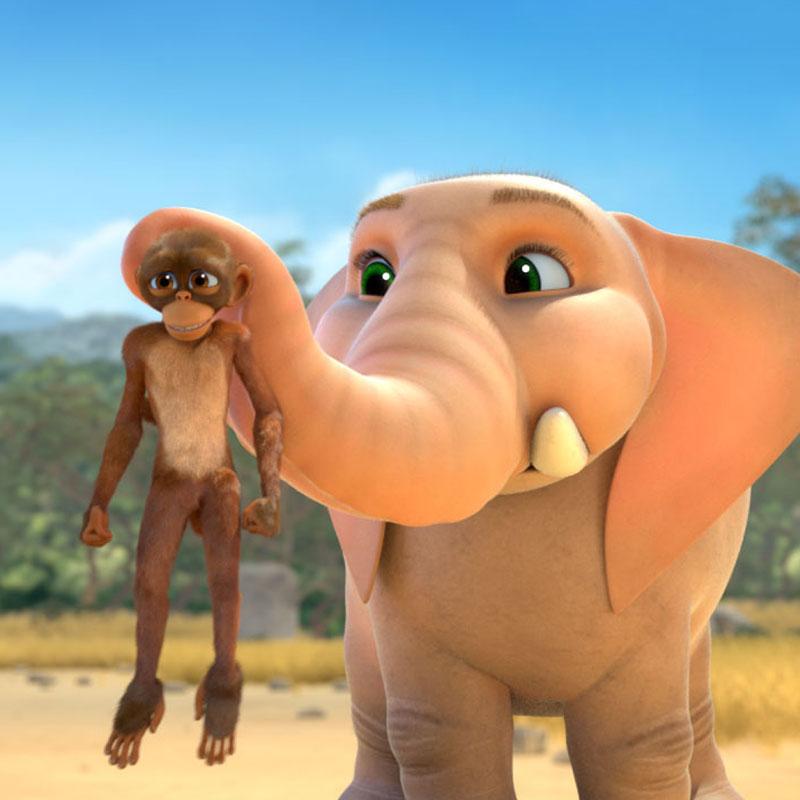 News image Ein Affe und ein Elefant…